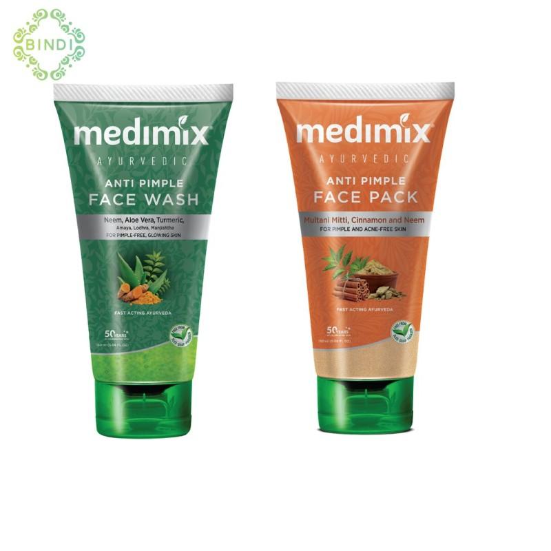 Combo Mặt nạ Medimix Ngừa mụn - Sữa rửa mặt Medimix Ngừa Mụn 150ml/tuýp
