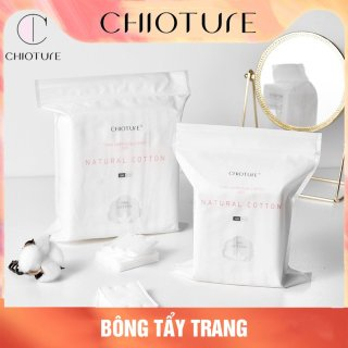 Bông tẩy trang. Bông tẩy trang Chioture, bông tẩy trang 3 lớp, bông tẩy trang cotton, dày dặn, mềm mịn thumbnail