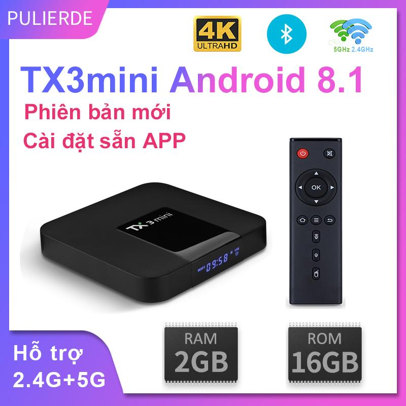 Bảng giá [Hot Deal] [Sale Hộp Tivi thông minh]Phiên bản mới TX3mini amlogic s905w cấu hình  2GB RAM 16GB ROM Hỗ trợ 5GHz wifi Và Bluetooth hdh Android 8.1  hỗ trợ độ phân giải 4K siêu nét Trình phát đa phương tiện thông minh Điện máy Pico