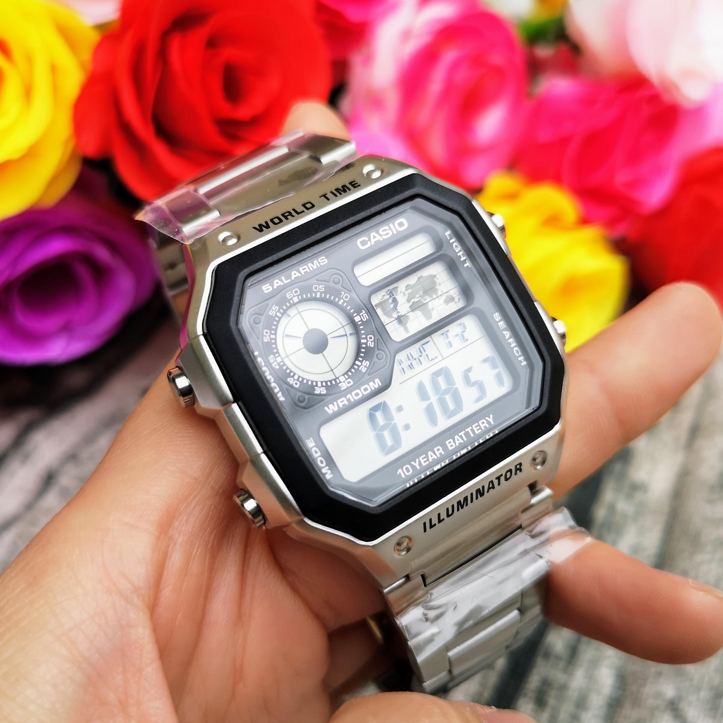 Đồng hồ nam dây kim loại Casio AE-1200WHD-1AVDF