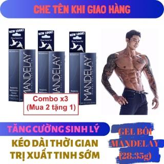 Combo x3 (Mua 2 tặng 1) Gel bôi trơn MANDELAY cao cấp kéo dài thời gian, tăng cường sinh lý nam giới mạnh mẽ ( mendelay men man delay ) - hàng chính hãng thumbnail