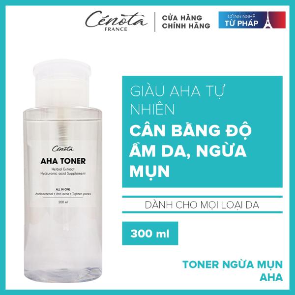 Nước hoa hồng dành cho da mụn Cénota Aha Toner 200ml cao cấp