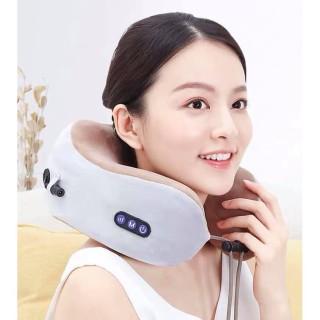 Gối massage cổ chữ U cao cấp - 2021, dòng máy mát xa cổ tiện dụng, gối ngủ văn phòng kiêm matxa cổ vai gáy- Thiết Bị Massage Sạc USB, Máy mát xa 3D đa năng hiện đại, BẢO HÀNH 12 THÁNG thumbnail