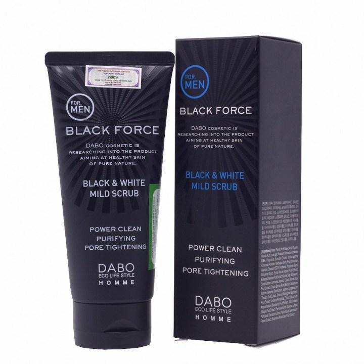 Sữa Rửa Mặt Dành Cho Nam Trắng Da Sạch Mụn Than Hoạt Tính Dabo Black Force 120ml tốt nhất