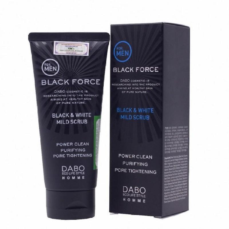 Sữa Rửa Mặt Dành Cho Nam Trắng Da Sạch Mụn Than Hoạt Tính Dabo Black Force 120ml