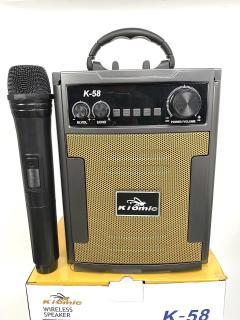 Loa Kéo Di Động Bluetooth K58 - Tặng Kèm 1 Micro Không Dây - Loa Xách Tay K-58 - LOA KÉO LONG PHÁT thumbnail