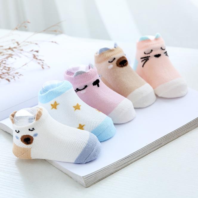 Set 5 đôi Tất Kids Socks Cho Bé Từ 0 -2 Tuổi, Chất Liệu Cotton Giá Sốc Nên Mua
