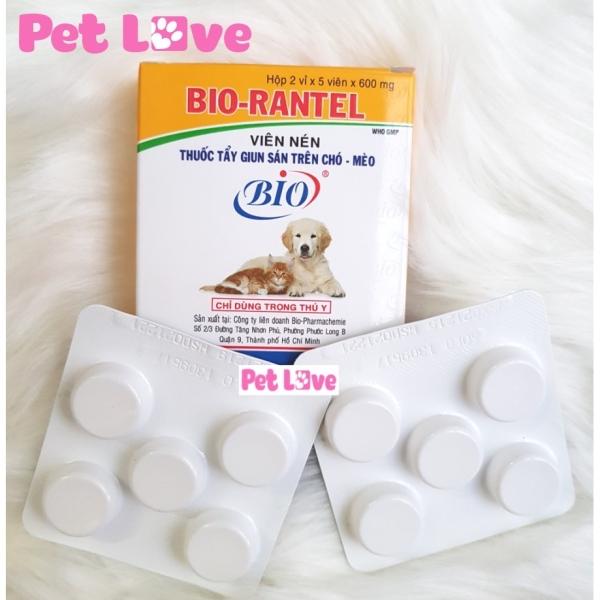 Bio Rantel xổ giun sán chó mèo 1 hộp x 10 viên
