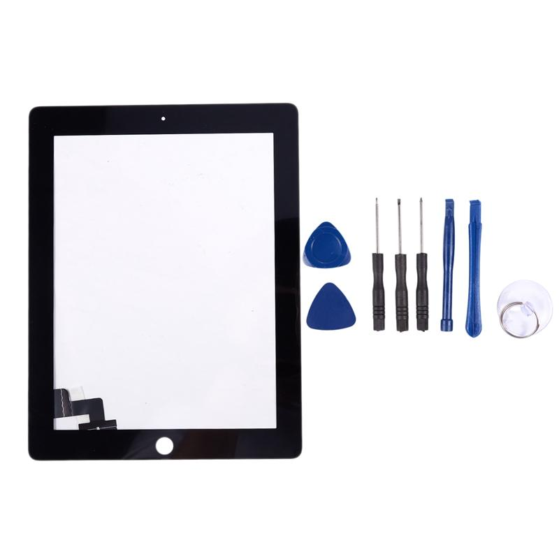 Giá Press Screen Black Glass Digitizer Compatible Repair Replacement For Apple Ipad 2 + Tools Black