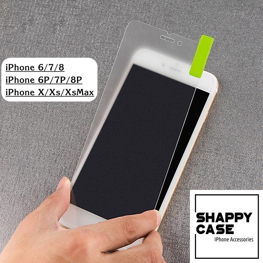 Kính Cường Lực Nhám Chống Vân Tay Không Viền Iphone 6/7/8/X/Xs/XsMax [Shappy Case]