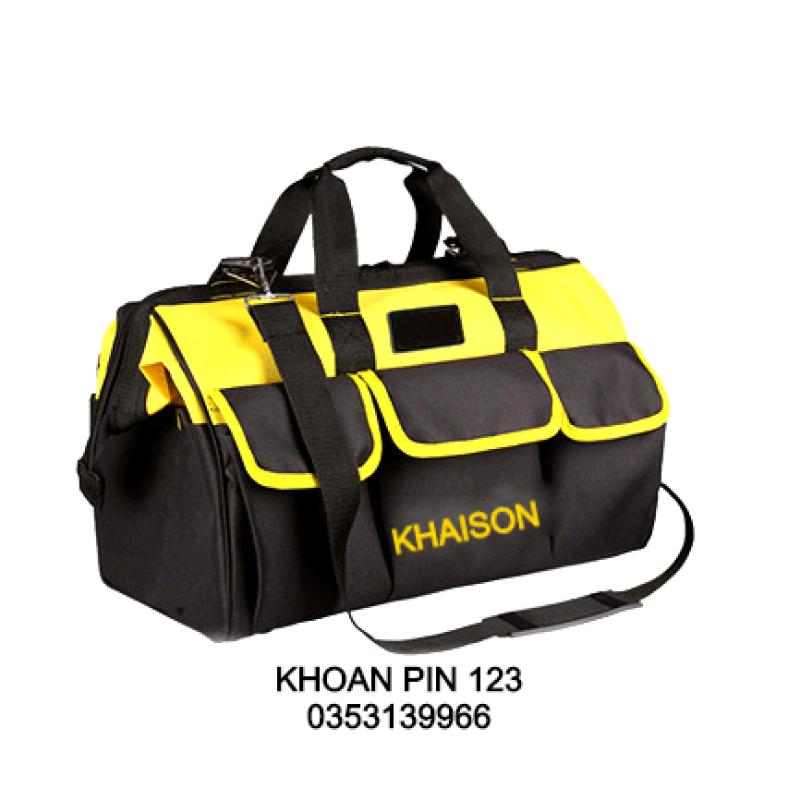 Túi đựng đồ nghề đáy nhựa, chịu lực, chống nước, chống mòn siêu bền KHAISON 16inch