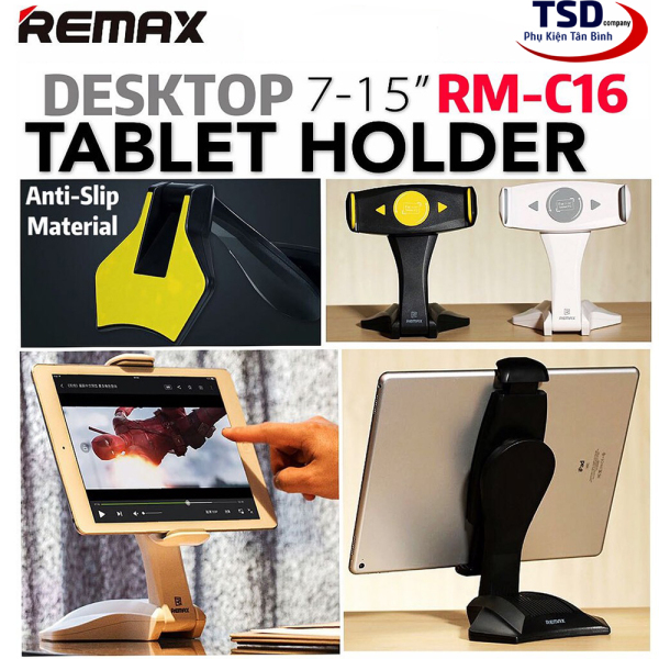 Giá Đỡ iPad Máy Tính Bảng Remax RM-C16 Xoay 360 Độ