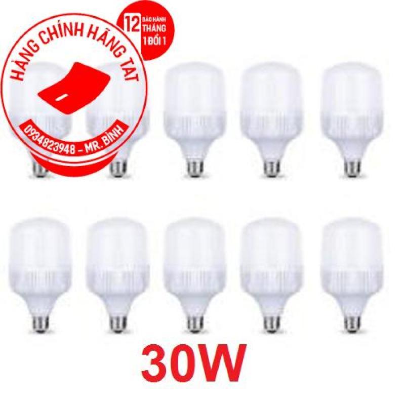 Bộ 10 Bóng Đèn Led 30W tiêt kiêm điện. Tiết kiệm điện hơn so với các loại bóng compact. Bảo hành: 12 Tháng