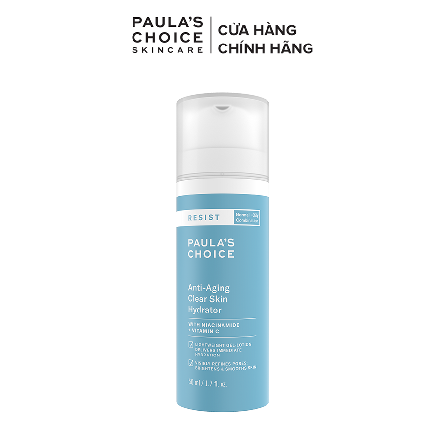 Kem dưỡng ẩm làm sáng da và chống lão hóa Paula's Choice Resit Anti-Aging Clear Skin Hydrator 50ml