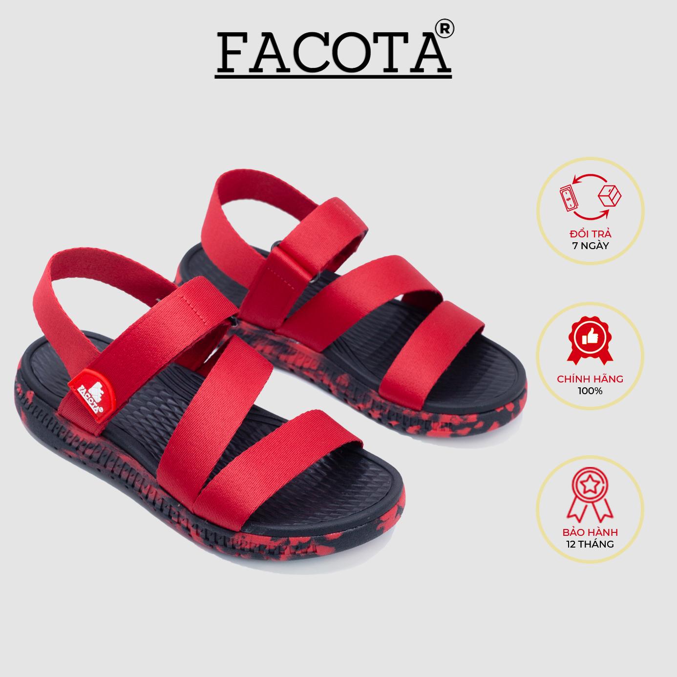 Giày sandal nam Facota HA16 chính hãng sandal thể thao quai dù