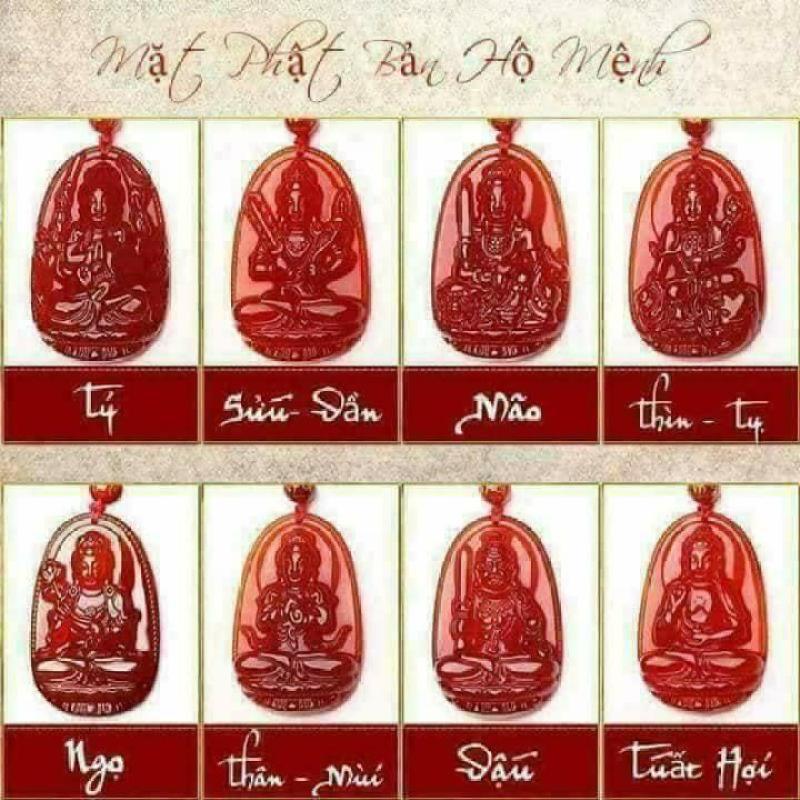 Phật Bản Mệnh Đá Agat Đỏ Kim Tiền Jewelry  - Phù Hộ Độ Trì - Gia Đình Đầm Ấm- Tặng Kèm Dây