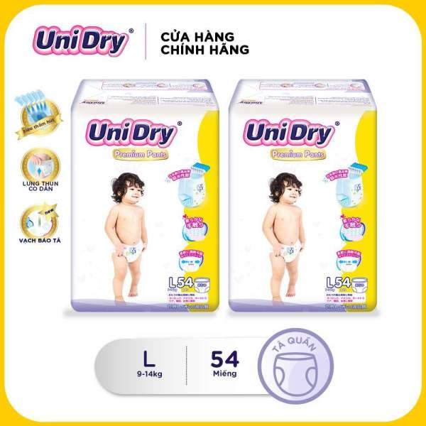Combo 2 tã quần cao cấp Unidry size L (54 miếng)