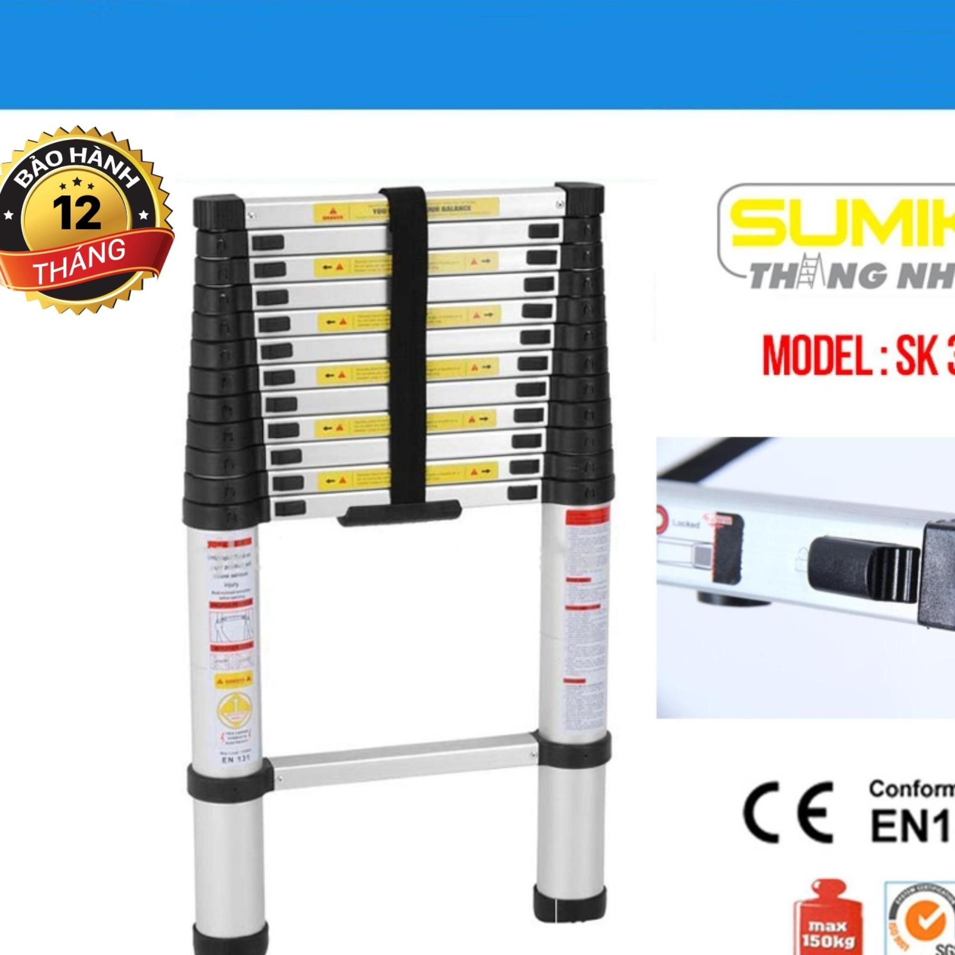 Thang nhôm rút gọn Sumika SK380 3.8m Ân Phước Store