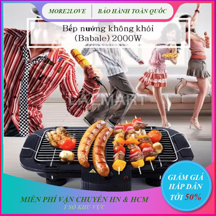 BẾP NƯỚNG BBQ CAO CẤP, Bếp nướng điện máy XANH - Thiết Kế Bằng Nhựa Chịu Nhiệt, Có Công Tắc An Toàn Tự Ngắt Điện ,Tiết Kiệm Điện Năng - Bếp nướng thịt - Bếp nướng ngoài trời - Lò ăn nướng - More2love