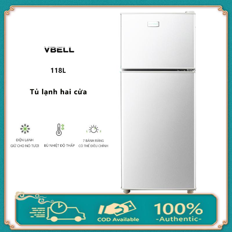 [HCM]Tủ lạnh 2 ngăn 118 lít thương hiệu làm lạnh nhanh ngăn đá và ngăn lạnh giữ đồ luôn tươi mới Điện máy bé XANH
