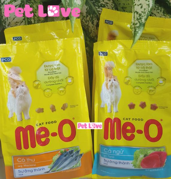 COMBO 4 MEO thức ăn hạt cho mèo lớn (2 vị: cá thu + cá ngừ; 1,4kg)