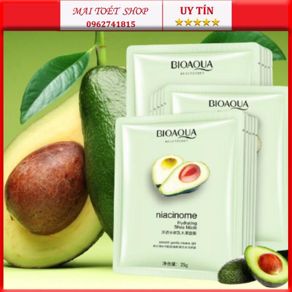 Mặt Nạ Bơ Bioaqua,dưỡng da sáng khỏe mịn màng,hàng nội địa trung