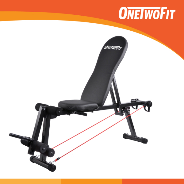 Bảng giá OneTwoFit Dumbbell Bench Exercise Machine Sit up Bench OT014. Ghế tập gym