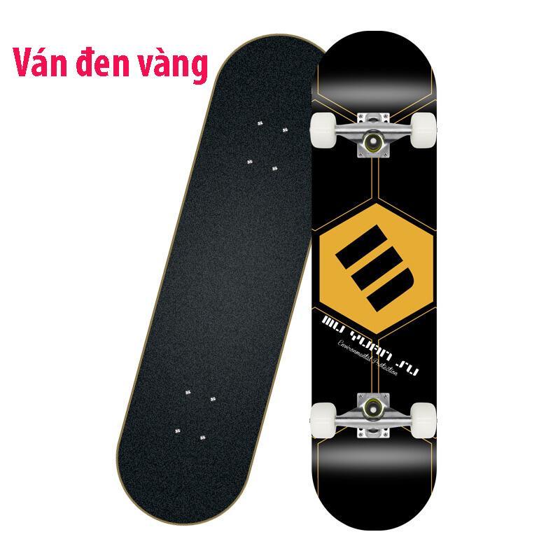 Ván trượt skateboard thể thao chất liệu gỗ phong ép cao cấp 8 lớp mặt nhám 8