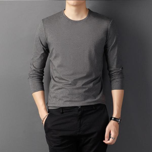 Áo thun dài tay nam, áo thu đông nam dài tay chất cotton co giãn cao cấp, form dáng thể thao slim