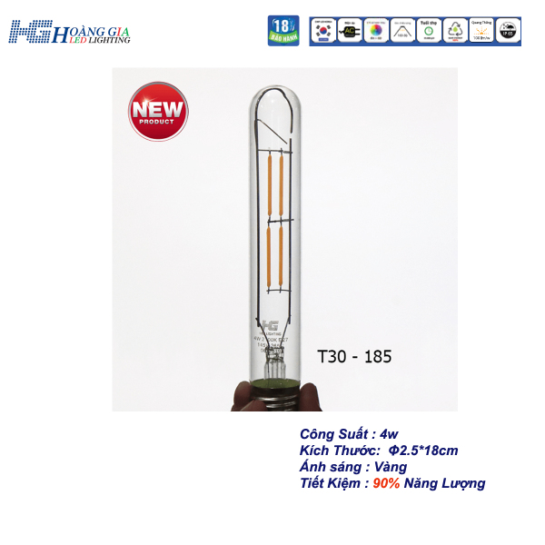 Đèn LED Trang Trí EDISION T185 4W