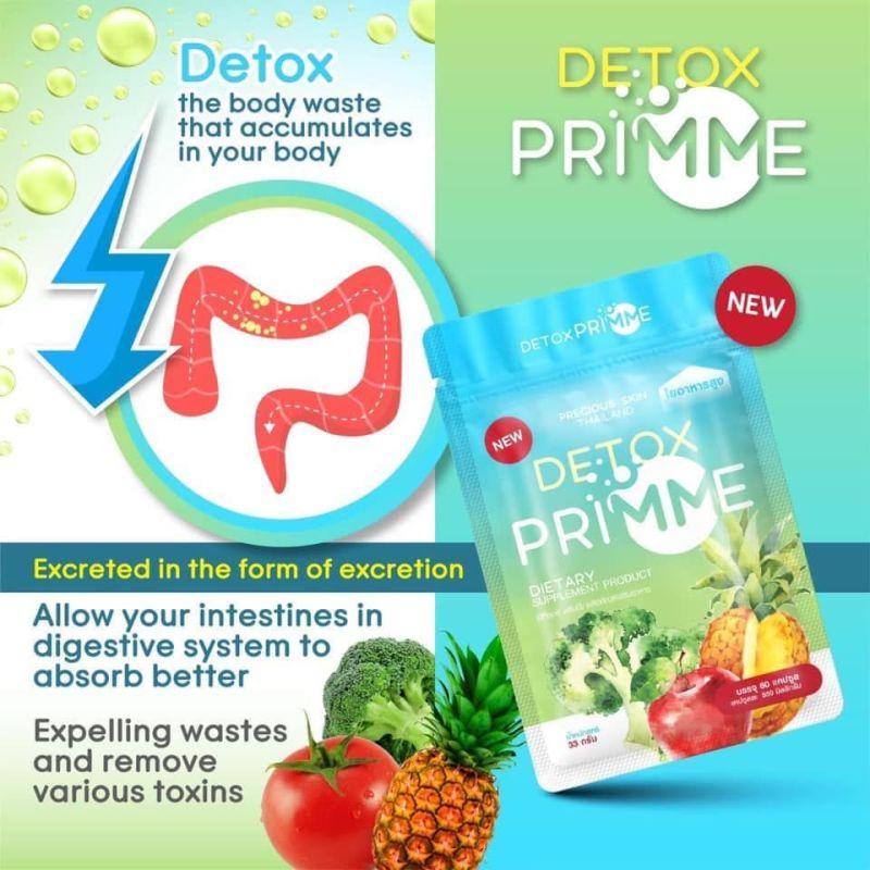 Viên uống khử mỡ giảm cân thải độc Detox Primme cao cấp