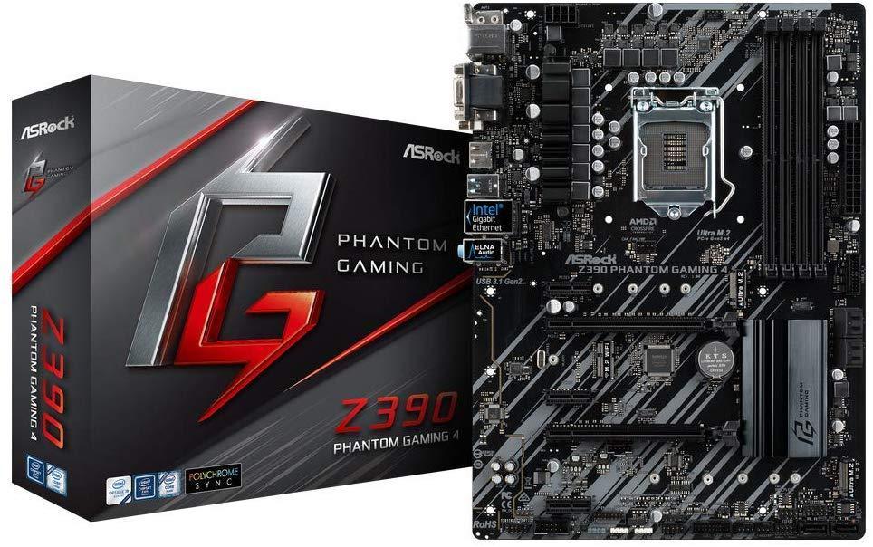 Bo Mạch Chủ ASRock Z390 Phantom Gaming 4 [Hàng nhập khẩu US]