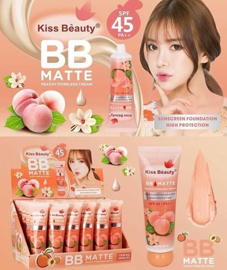 Kem nền BB Matte Kiss beauty ĐÀO cao cấp