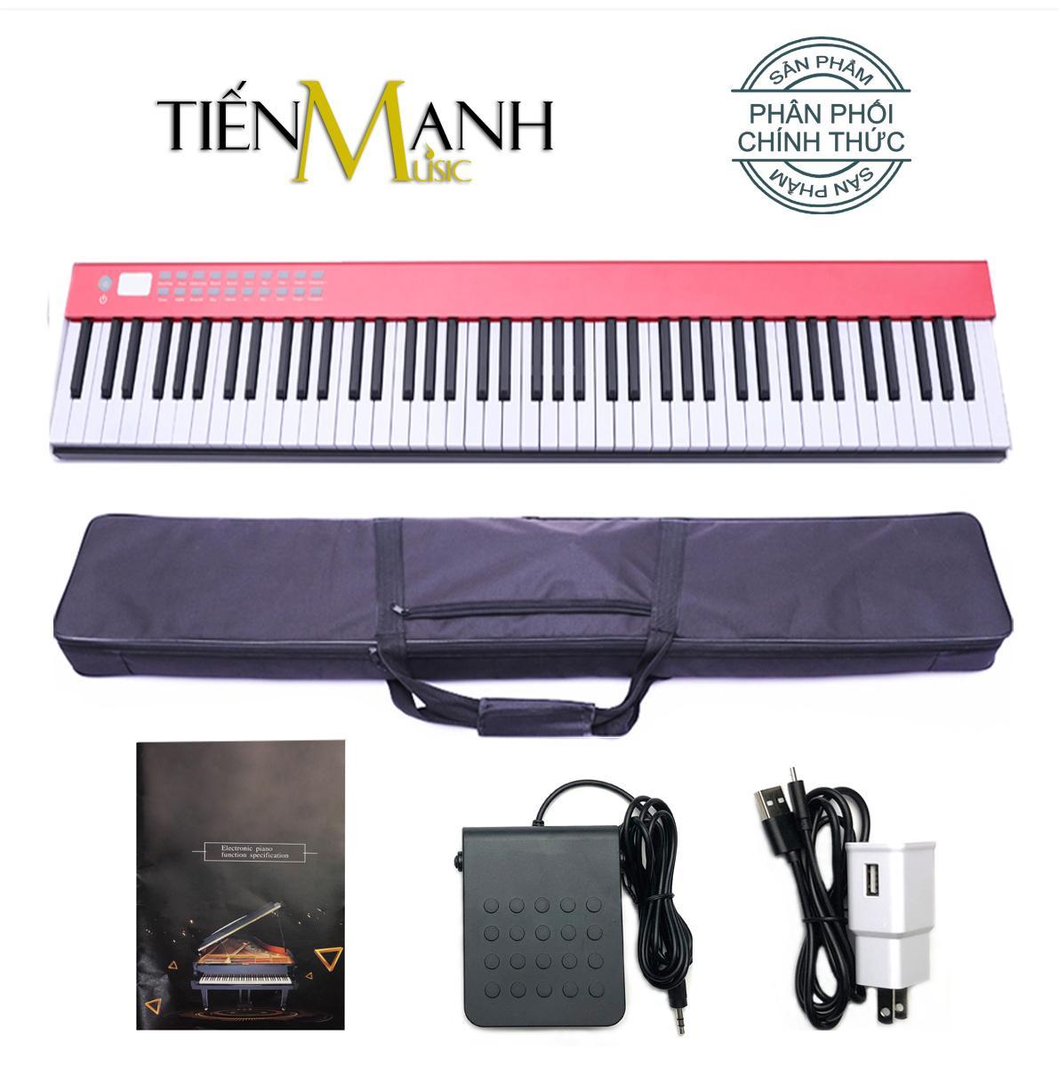 Đàn Piano Điện Bora 88 Phím nặng Cảm ứng lực BX-02 - Midi Keyboard Controllers BX-II (Tăng giảm tone Transpose, BX-2 Kết nối Bluetooth, Pin sạc 1100mAh - Phần mềm và Hướng dẫn Tiếng Việt -Tặng bao đựng)