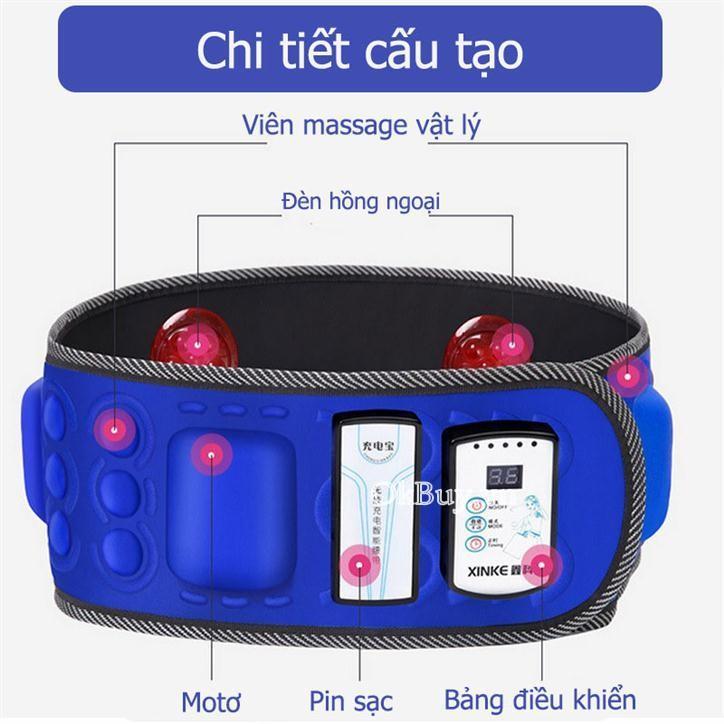 Đai Massage X6, Máy tập cơ bụng sạc pin 1 đổi 1