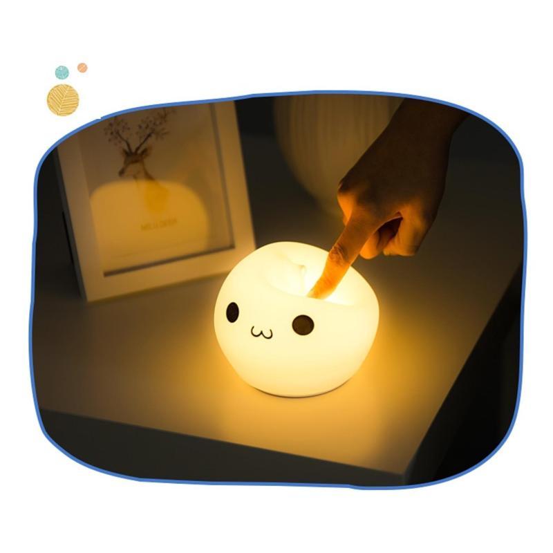 Bảng giá Đèn ngủ dễ thương hình giọt nước (Led đổi màu) silicon dẻo cao cấp dây sạc USB