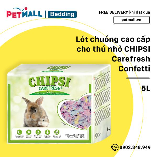 Lót chuồng cao cấp cho thú nhỏ CHIPSI Carefresh Comfort Bedding - 5L