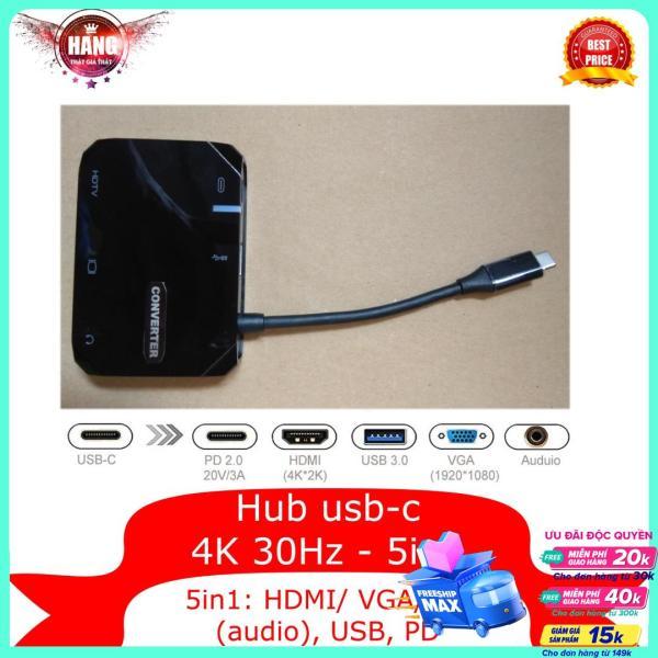 Bảng giá Bộ chuyển USB C ra HDMI 5in1 AV 35849 -Type-c ra HDMI chuyên dùng cho Macbook, Laptop, Smartphone Phong Vũ