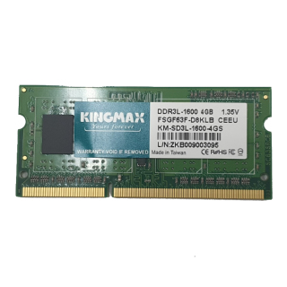 RAM LAPTOP KINGMAX DDR3L 1600MHZ 4GB (XANH LÁ) - Hàng chính hãng new 100% thumbnail