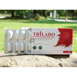[ HẾT LO BỆNH TRĨ] LIỆU TRÌNH 1 THÁNG 3 HỘP Viên uống trĩ Trilado. Lá nho đỏ nhập khẩu từ Indena S.A.S Pháp thumbnail
