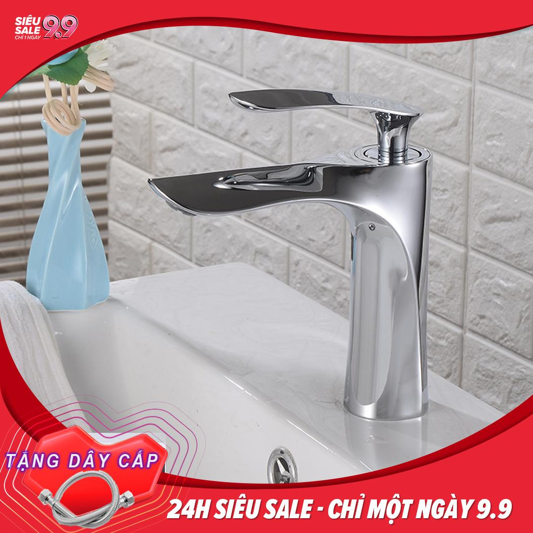 Vòi lavabo NÓNG LẠNH MR chất liệu đồng nguyên khối...