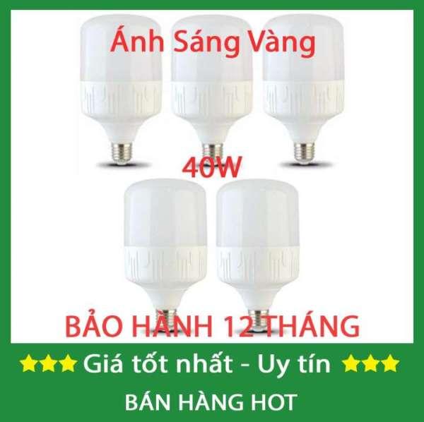 Bộ 5 bóng đèn 40w siêu sáng siêu tiết kiệm điện (Sáng Trắng)