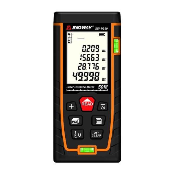 Thước đo khoảng cách bằng tia laser SNDWAY phạm vi 50m (SW-M50)