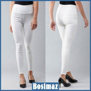 Quần Legging Nữ Bosimaz MS216 dài túi sau màu trắng cao cấp, thun co giãn 4 chiều, vải đẹp dày, thoáng mát không xù lông. thumbnail