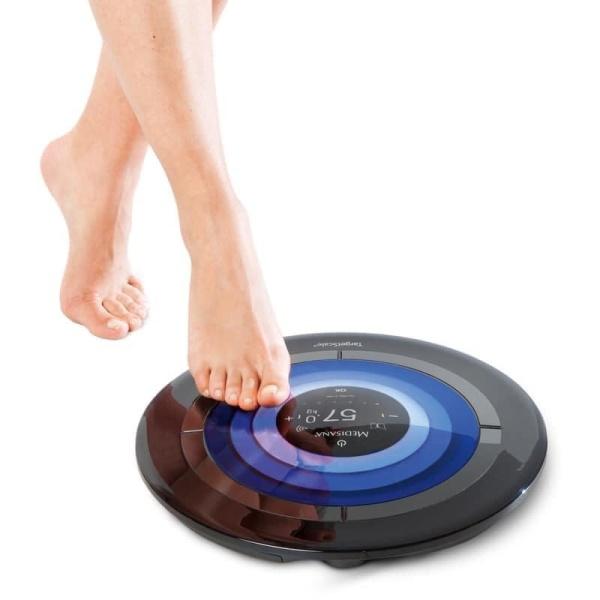 Cân đo phân tích cơ thể Medisana 40413 TargetScale 3; Hàng nhập Đức; Kết nối Blutooth; Đo các chỉ số cơ thể (trọng lượng, kalories, tỷ lệ mỡ, cơ và xương) cao cấp
