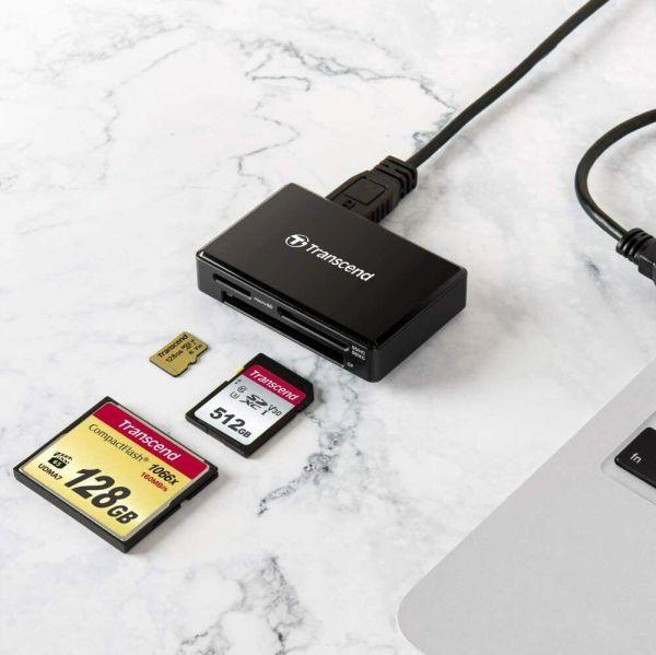 Đầu đọc thẻ Trancend USB 3.1 Gen1 RDF8