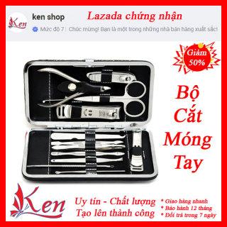 Bộ kìm cắt móng tay 12 món, bộ kéo cắt móng tay, bộ bấm móng tay 12 món cao cấp thumbnail