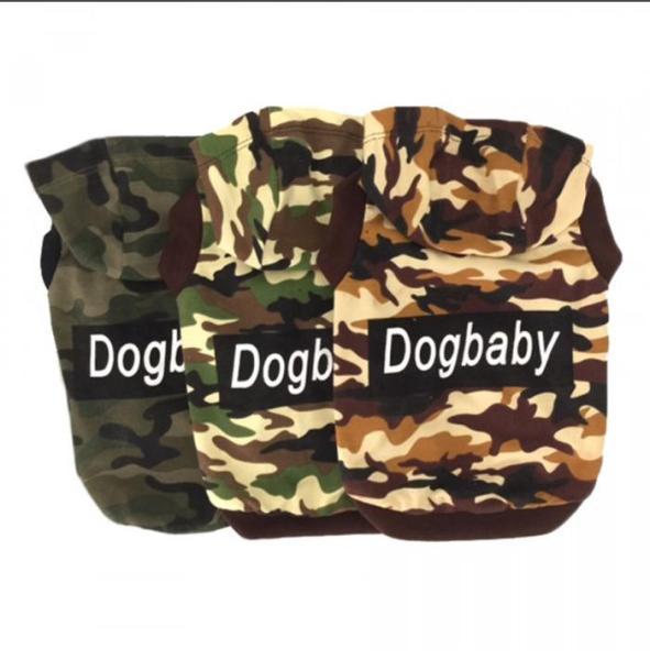 Áo Cho Chó Mèo Thú Cưng Có Nón Lính Baby Dog Đủ Size Kích Cỡ, Màu Sắc