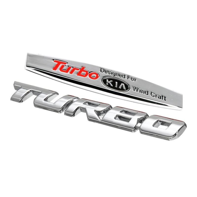 [Khuyến mãi] Combo logo hãng xe + Turbo trang trí ngoài xe cho ô tô