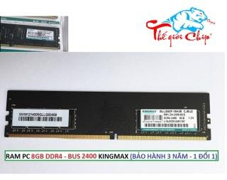RAM PC 8GB DDR4 - BUS 2400 KINGMAX (BẢO HÀNH 3 NĂM - 1 ĐỔI 1) thumbnail